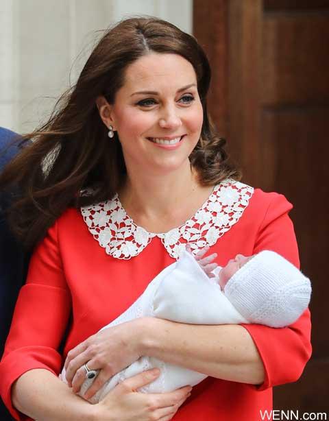 キャサリン妃とルイ王子
