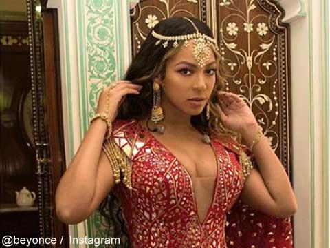 ビヨンセ、インド人大富豪娘の結婚式でパフォーマンス! きらびやかな現地風衣装姿を披露