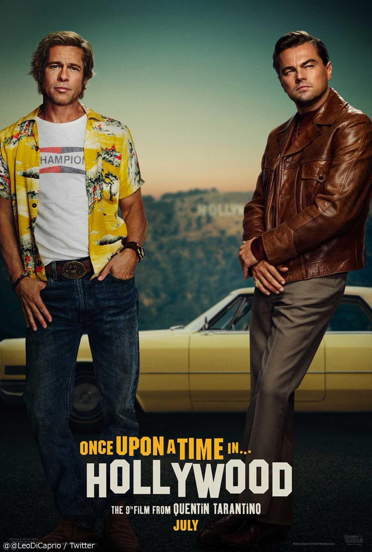 映画「Once Upon a Time in Hollywood」の公式ポスター