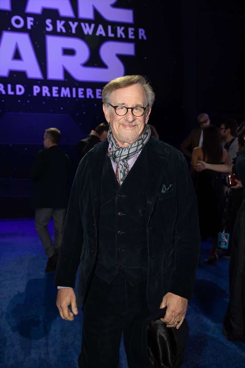 Steven Spielberg arrives for the World Premiere of Star Wars: The Rise of Skywalker, the highly anticipated conclusion of the Skywalker saga, in Hollywood, CA, on December 16, 2019.
