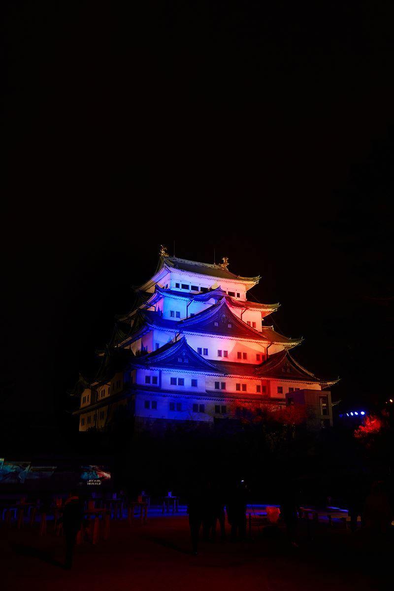 モニュメントライティング_名古屋城