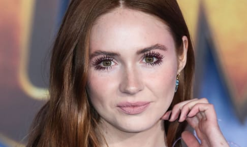 Actress Karen Gillan wearing a Prabal Gurung dress and Irene Neuwirth jewelry arrives at the World Premiere Of Columbia Pictures' 'Jumanji: The Next Level' held at the TCL Chinese Theatre IMAX on December 9, 2019 in Hollywood, Los Angeles, California, United States.