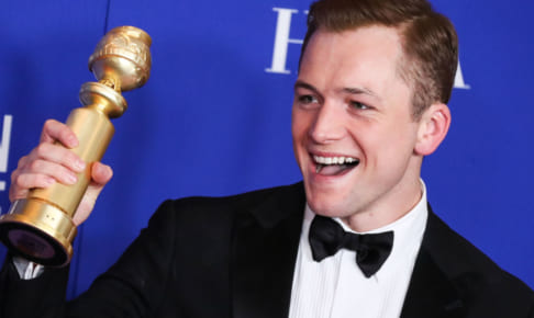 Actor Taron Egerton wearing Armani poses in the press room at the 77th Annual Golden Globe Awards held at The Beverly Hilton Hotel on January 5, 2020 in Beverly Hills, Los Angeles, California, United States. Where: Beverly Hills, California, United States When: 05 Jan 2020 Credit: WENN/Avalon **WENN/Avalon**