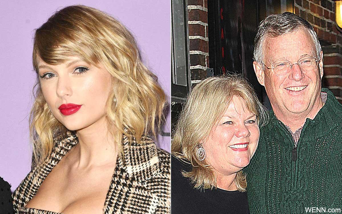テイラー・スウィフトと、テイラーの母アンドレアさん、父スコットさん