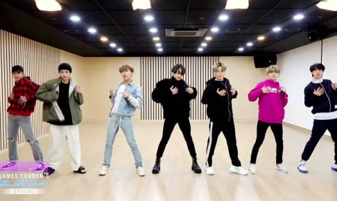 BTS/CBS 'The Late Late Show with James Corden'番組キャプチャ