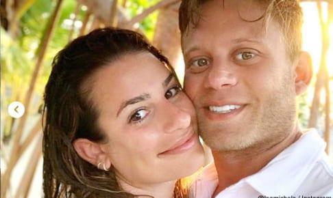 リア・ミシェルと、夫のザンディ・リーチ