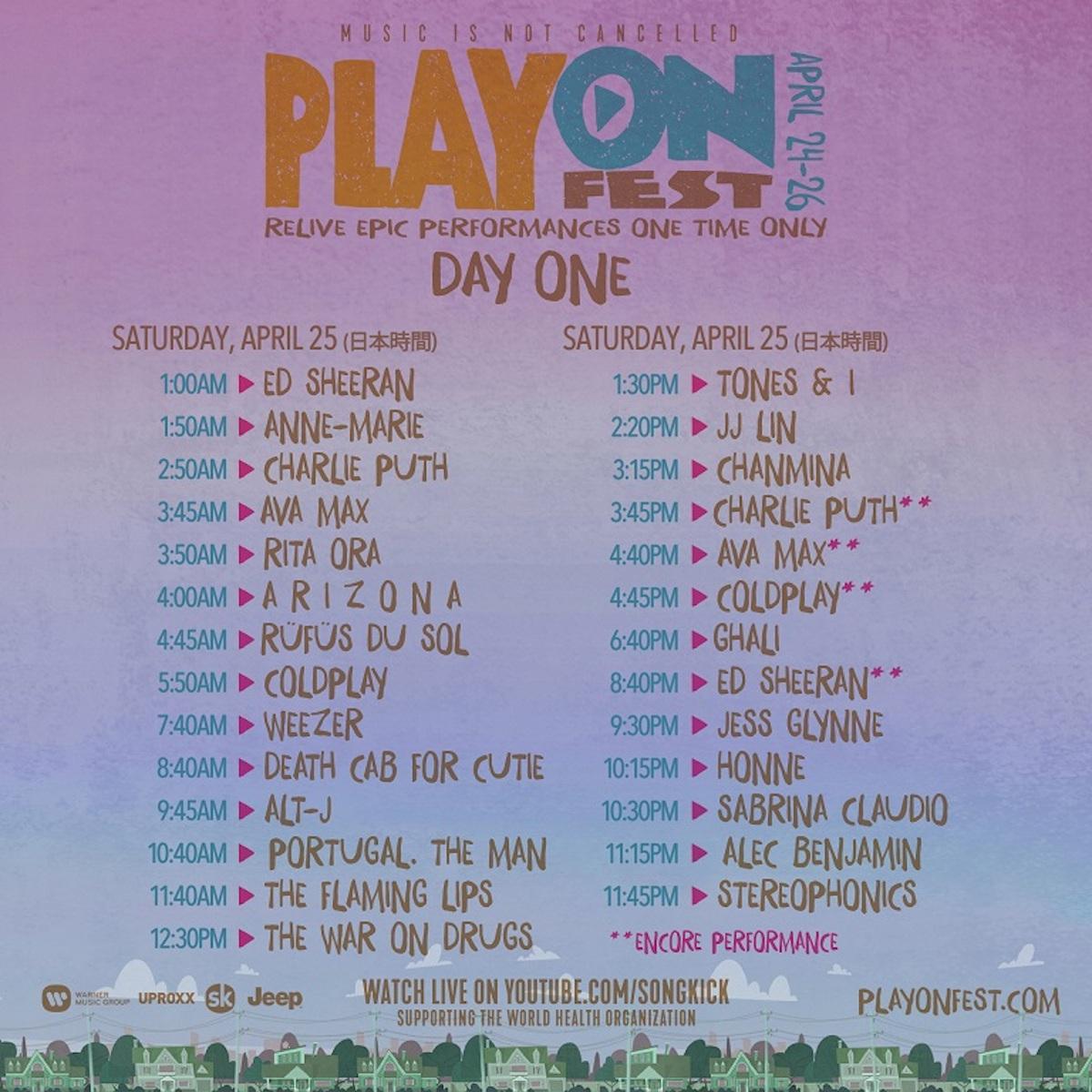 PlayOn SetTimes DAY-ONE