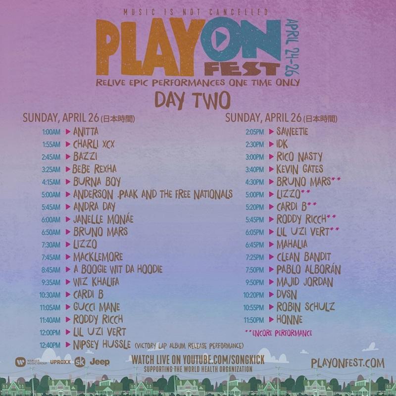 PlayOn SetTimes DAY-TWO