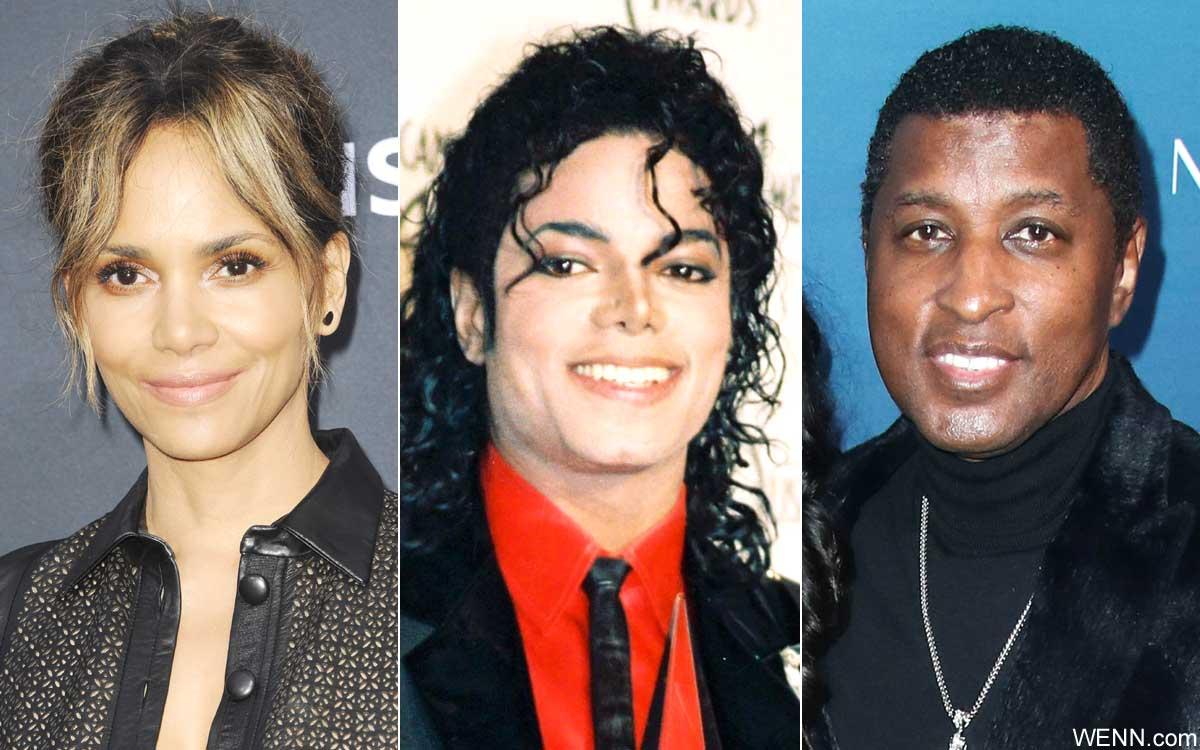 左からハル・ベリー、マイケル・ジャクソン、ベイビーフェイス