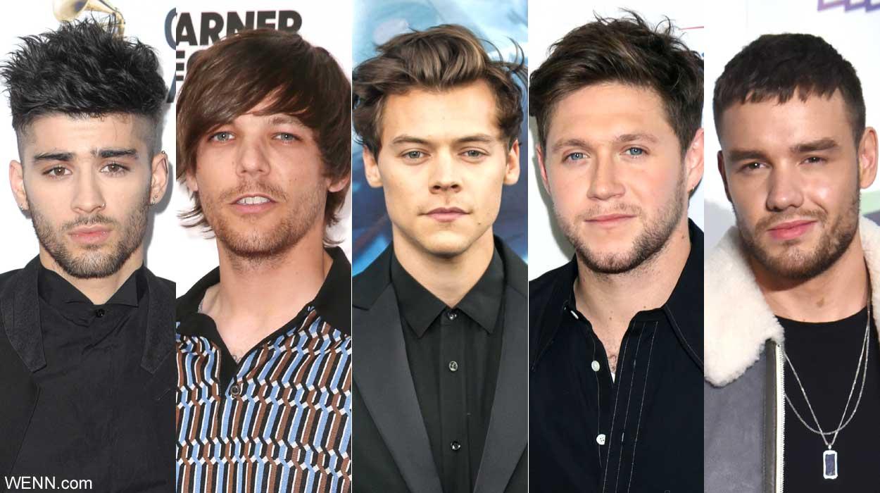 左からゼイン、ルイ、ハリー、ナイル、リアム