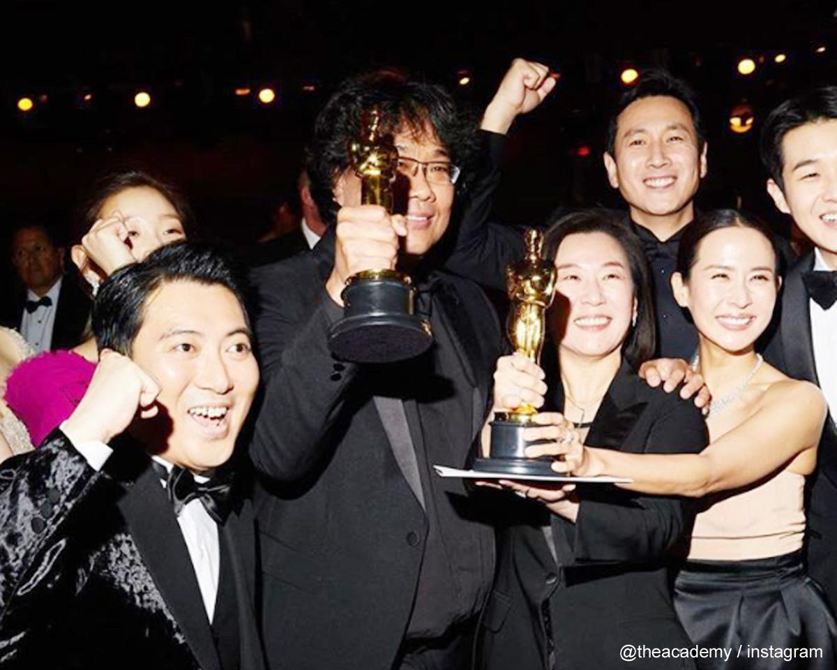 2020年アカデミー賞作品賞を受賞した「パラサイト」チーム