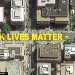 上空から見た「Black Lives Matter Plaza」