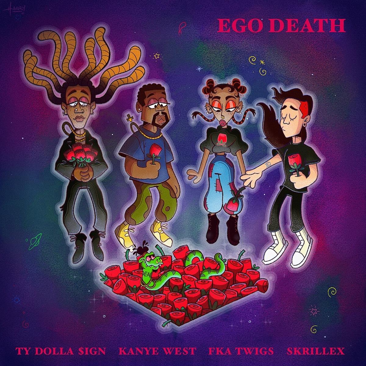 ニュー・シングル「エゴ·デス (feat. カニエ・ウェスト、FKAツイッグス、スクリレックス) / Ego Death (feat. Kanye West, FKA twigs & Skrillex」