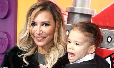 ナヤ・リヴェラと、息子のジョージー君