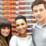 左からリア・ミシェル、ナヤ・リヴェラ、コーリー・モンテース(2012年)
