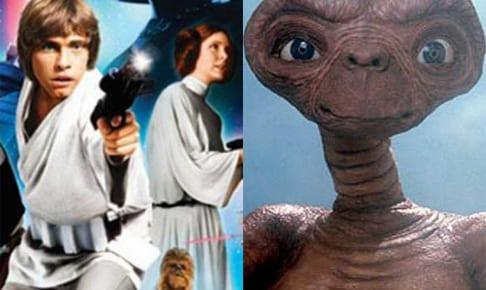『スター・ウォーズ/ジェダイの帰還』(左)、『E.T.』