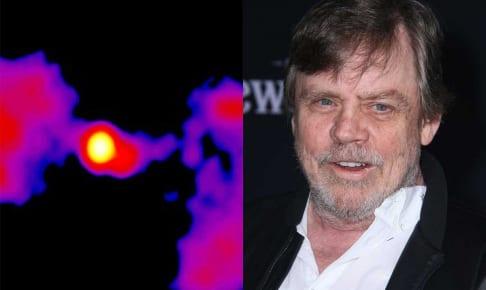 スター・ウォーズ銀河(左)、マーク・ハミル