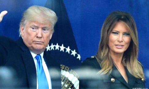 ドナルド・トランプ米大統領と、メラニア夫人