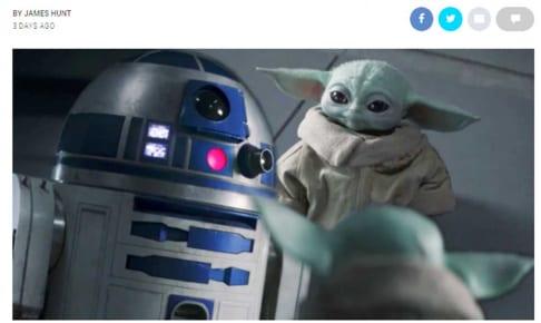 R2-D2とベビー・ヨーダ