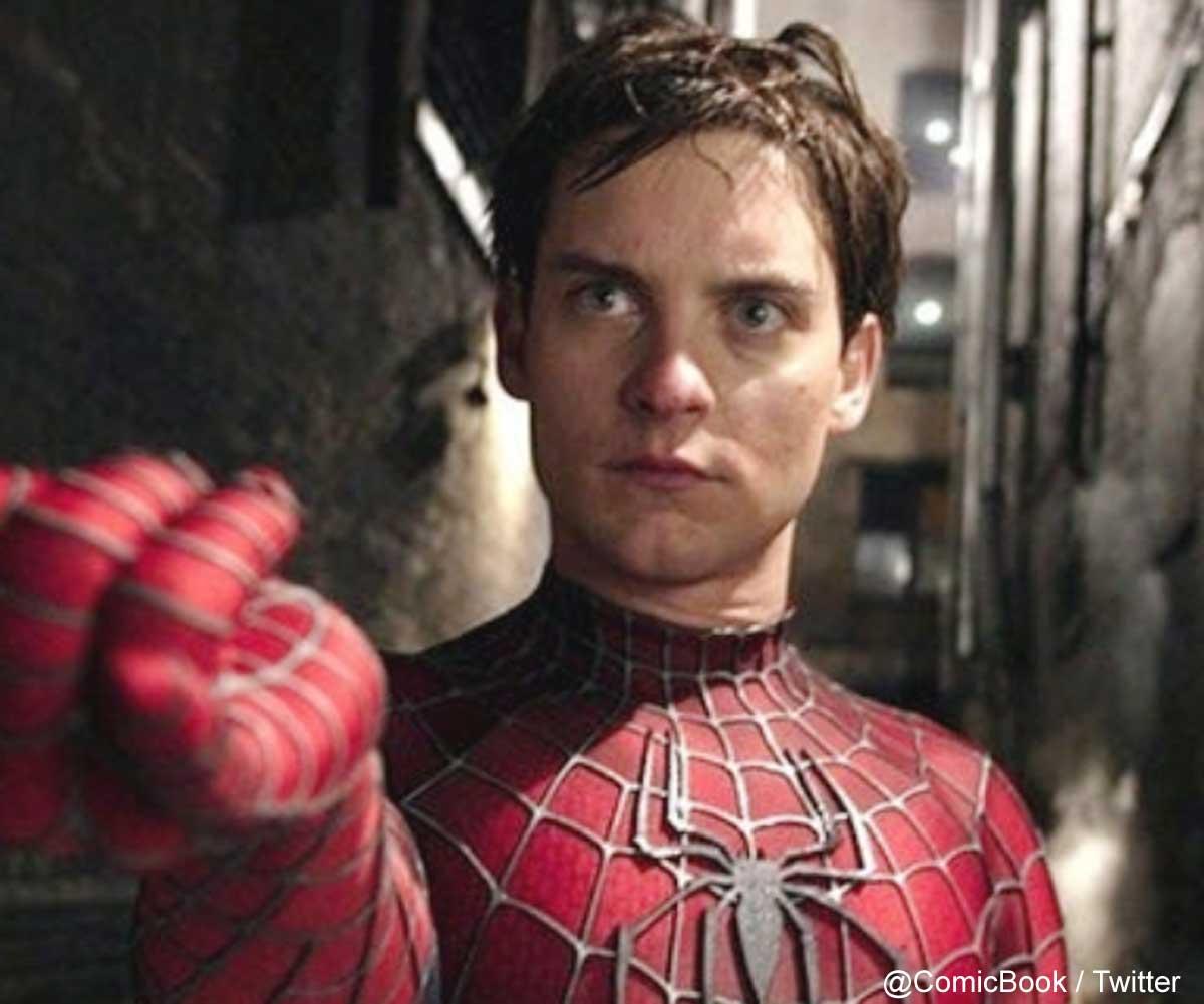 スパイダーマンを演じた当時のトビー・マグワイア
