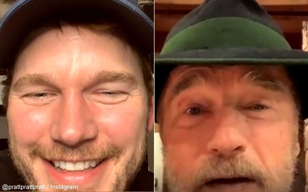 クリス・プラットと、アーノルド・シュワルツェネッガー