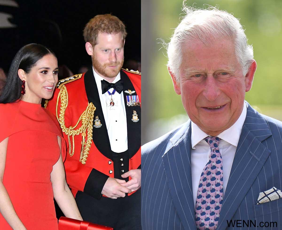 ハリー王子&メーガン妃(左)、チャールズ皇太子