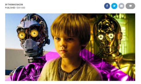 アナキン少年とC-3PO