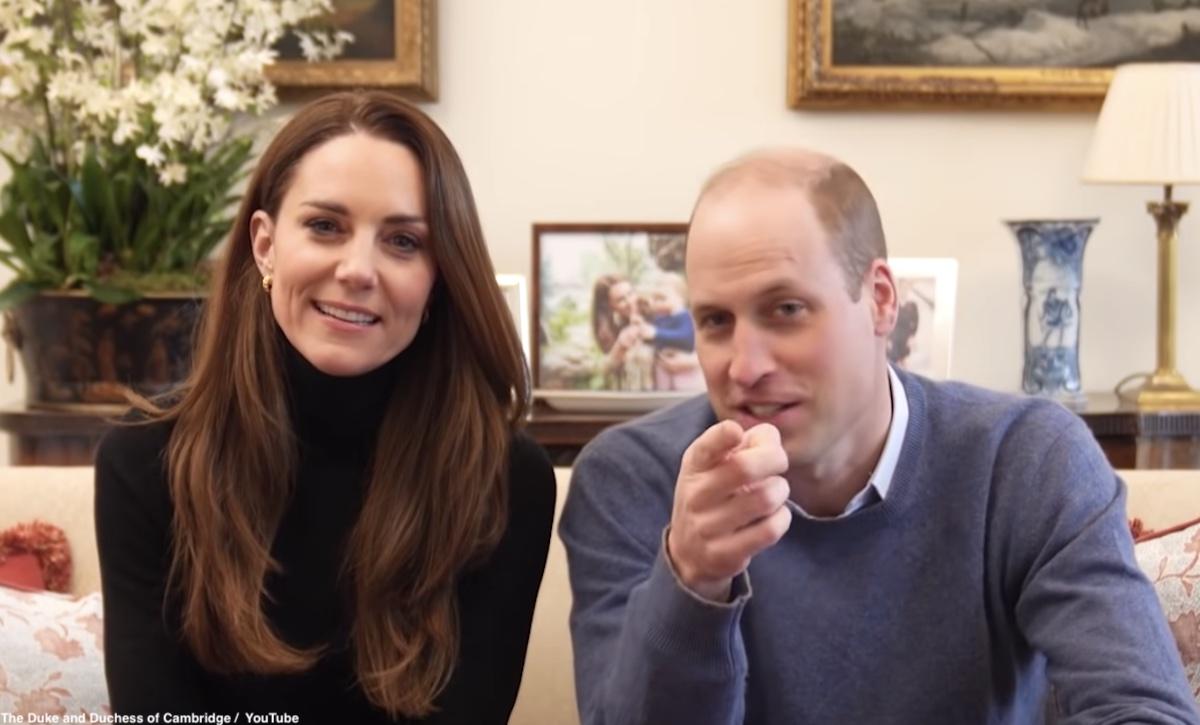 英ウィリアム王子と、キャサリン妃のYouTubeより