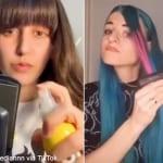 話題のフェイク髪染め動画