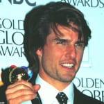 ゴールデン・グローブ賞受賞時のトム・クルーズ