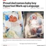 「HTML」と名付けられた赤ちゃん