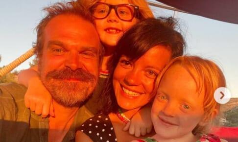 デヴィッド・ハーバーとリリー・アレン、リリーの子供たち