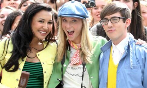 (左から)ナヤ・リヴェラ、ヘザー・モリス、ケヴィン・マクヘイル ※2011年撮影