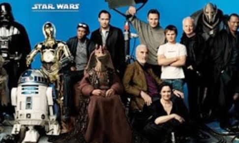 2005年に公開された『スター・ウォーズ』集合写真