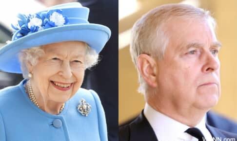 エリザベス女王と、アンドルー王子