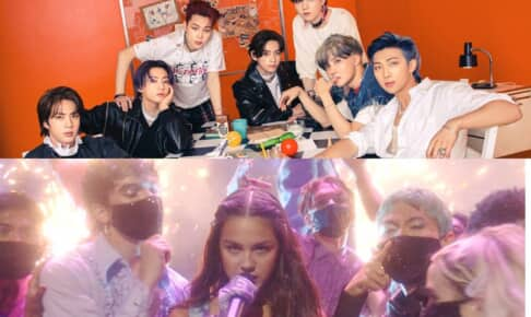 BTS(上)、オリヴィア・ロドリゴ Photo by BIGHIT MUSIC