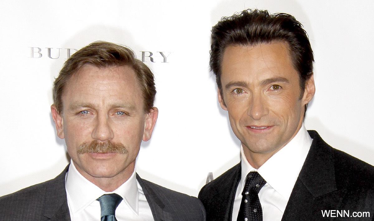 ダニエル・クレイグと、ヒュー・ジャックマン(2009年)
