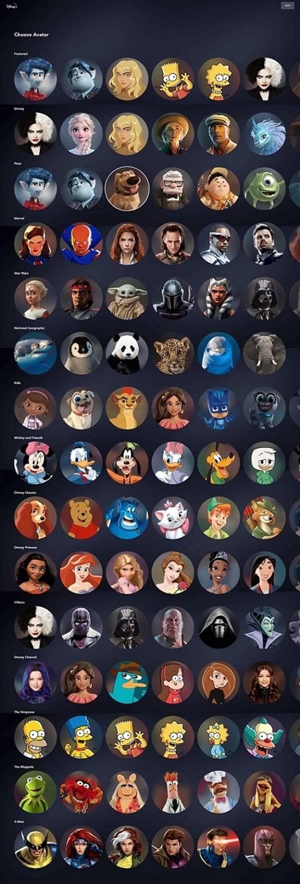 アカウントプロフィールキャラクター画像 (C) 2021 Disney and its related entities