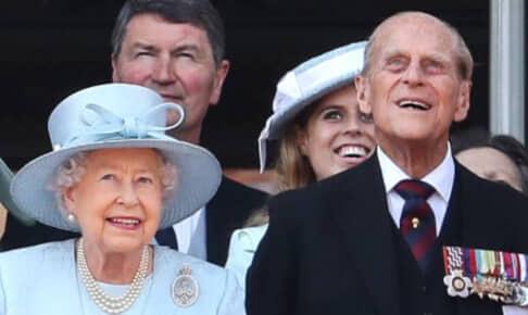 エリザベス女王と、故フィリップ殿下