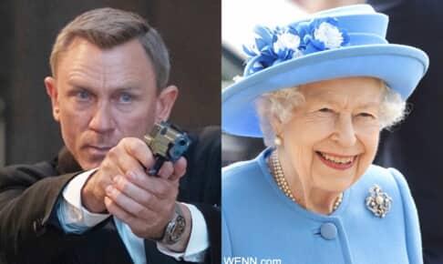 ダニエル・クレイグと、エリザベス女王