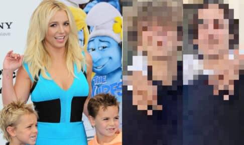 2013年、息子たちと映画『スマーフ2』のプレミアに登場したブリトニー・スピアーズ(左)